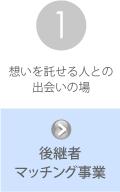 京都中小企業事業継続・創生支援センターの支援内容その1:後継者マッチング事業