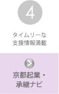 京都中小企業事業継続・創生支援センターの支援内容その4:京都起業・承継ナビ
